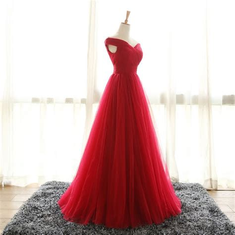 full length  shoulder sleeves red bridesmaid dresses