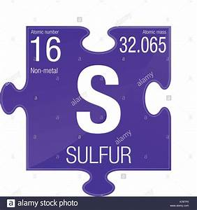 Sulfur Symbol  Element Number 16 Of The Periodic Table Of