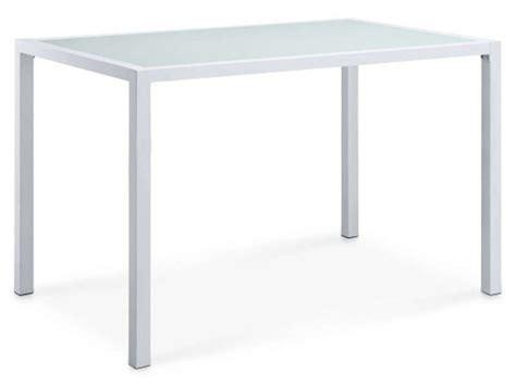 table cuisine conforama blanc table rectangulaire en verre vanon coloris blanc