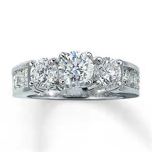 3 ct engagement rings jewelers 3 ct tw cut three engagement ring in 14k white gold engagement ring wall