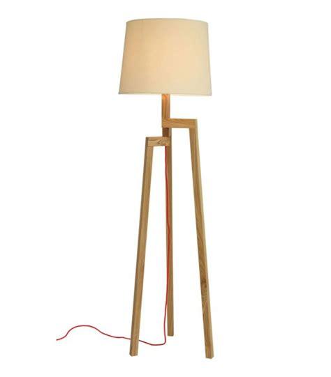 boites rangement bureau ladaire design trépied en bois et abat jour beige