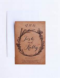 this is a wedding invite printed on kraft paper at With rustic wedding invitations perth