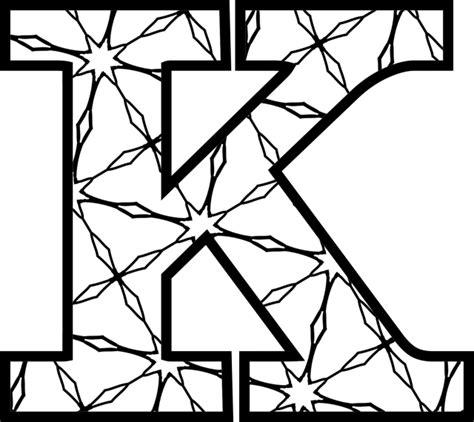 color k free printable alphabet letters to color artistic letter k