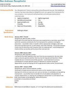 receptionist cv exle and template learnist org