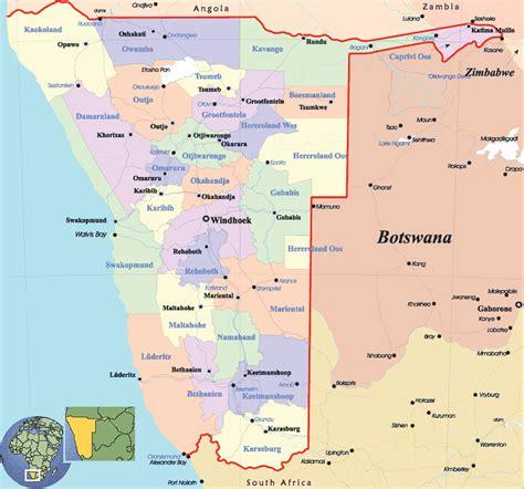 Karten von Namibia
