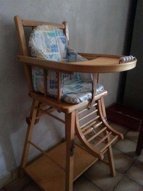 chaise haute transformable vernie combelle avis