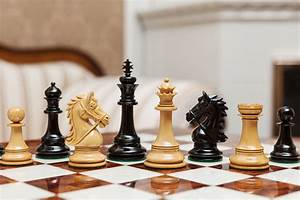 Regal, 4, 4, U0026quot, Luxury, Chess, Pieces, In, Lacquered, Ebony, Boxwood