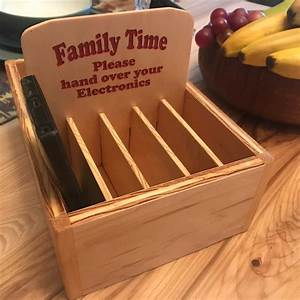 Family, Time, Cell, Phone, Storage, Box, 10, Compartments