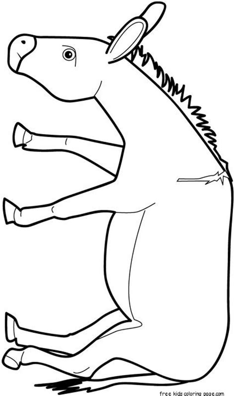 print  animal donkey coloring pages  kidsfree