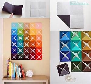 How to make origami paper craft wall decoration step by ...