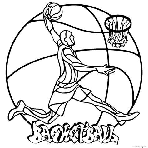 mandala easy basketball coloring pages printable