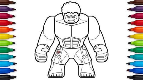 how to draw lego hulk avengers age of ultron marvel