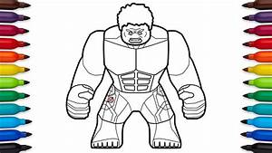 How To Draw Lego Hulk Avengers Age Of Ultron - Marvel Superheroes - Coloring Pages
