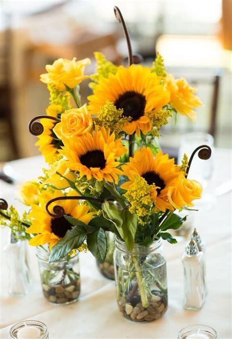 sunflower wedding centerpieces ideas  pinterest