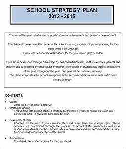 4 school strategic plan template free word pdf With creating a strategic plan template