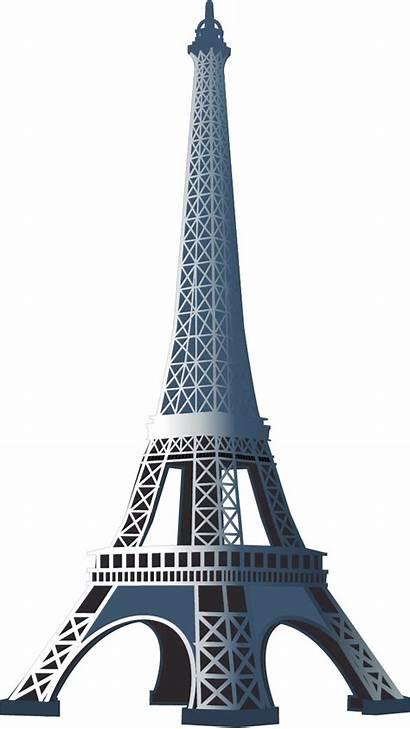 Tower Eiffel Vector Clipart Transparent Silhouette Cartoon