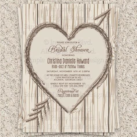 bridal shower invitation rustic bridal shower invitation