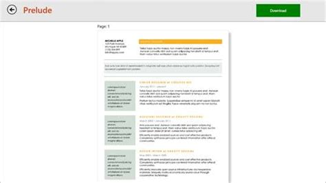 Resume Template Windows 8 by Resume Templates For Windows 10 Pc Free Best
