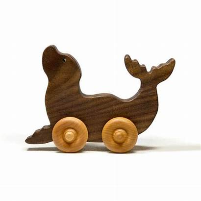 Wooden Toy Seal Wood Children Toys Personalized