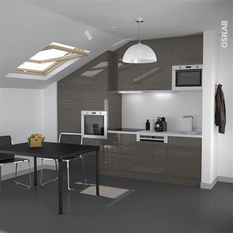 plan de travail cuisine belgique cuisine ouverte de couleur taupe design et