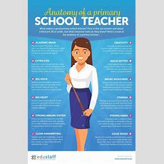 The Anatomy Of A Primary School Teacher Infographic  Elearning Infographics