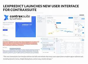 LexPredict Launches New User Interface for ContraxSuite ...