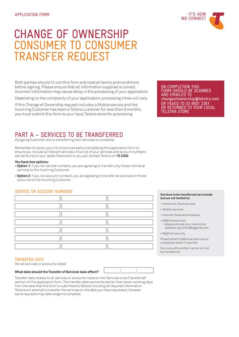 ownership transfer request letter templates