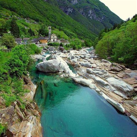 Verzasca Valley Switzerland Water Dream Landscape
