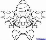 Clown Coloring Pages Pennywise Halloween Scary Drawing Dessin Drawings Draw Cool Things Printable Creepy Getcolorings Getdrawings Bing Clowns Killer Dragons sketch template