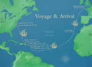 Jamestown Voyage Map