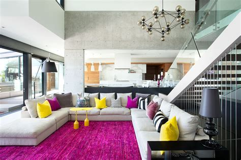 A Comfortable Modern Home With Colorful Accents : If You Love Colors You'll Love This Bright Living Room