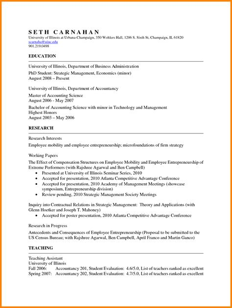 Professional Curriculum Vitae Template Word by 5 Academic Resume Template Word Professional Resume List