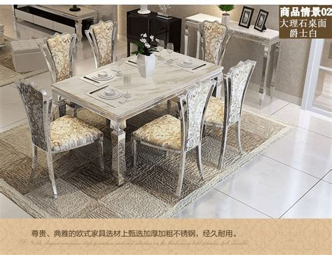 dining table sets marble dining table  chairs modern