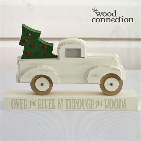 christmas pickup truck unfinished wood crafts wood