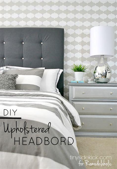 diy padded headboard remodelaholic diy tufted upholstered headboard tutorial