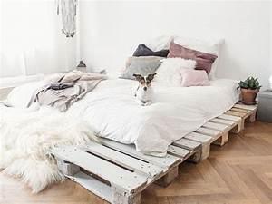Einfaches Bett Aus Paletten Selber Bauen