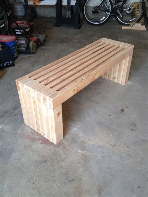 Ana White   Slat Bench   DIY Projects