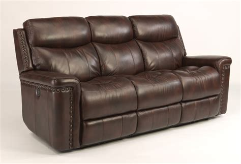 power reclining sofa flexsteel living room leather power reclining sofa 1339