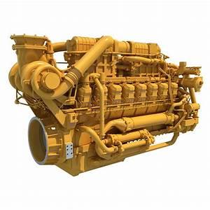 2017 Caterpillar Marine Propulsion Engine 3d Model