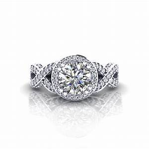 Halo infinity engagement ring jewelry designs for Infinity design wedding ring