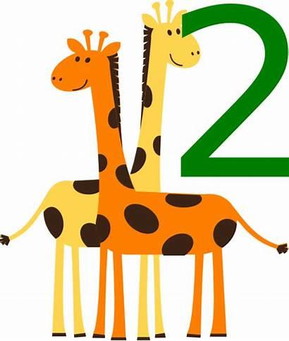 Animals Animal Clipart Number Clip Clker Giraffes