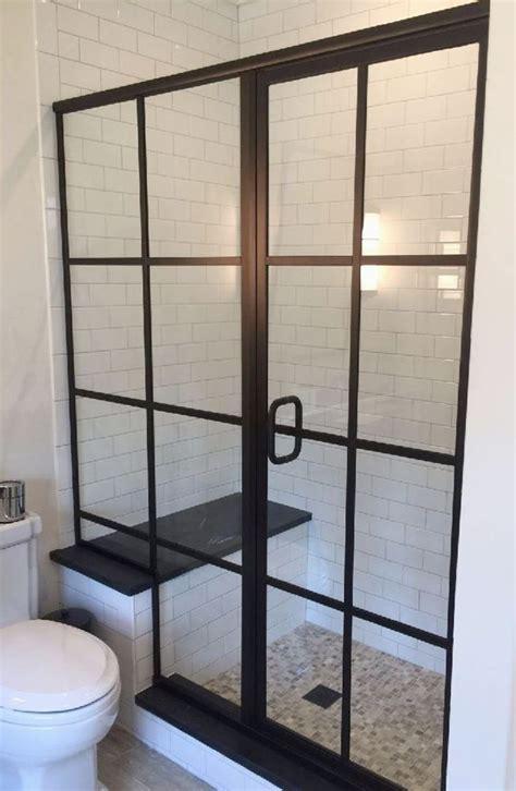 Grid Style Shower Glass Baths  Design