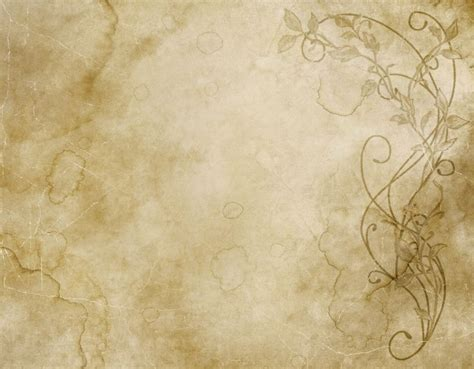 Paper Backgrounds Excellent Faded And Worn Floral Design On Paper Or