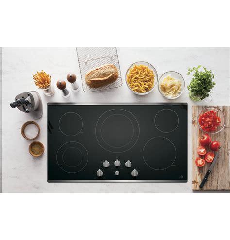 ge  built  knob control electric cooktop jpsjss  appliances
