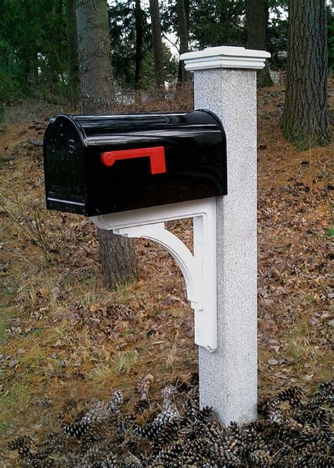 granite mailbox post with cap and bracket other metro