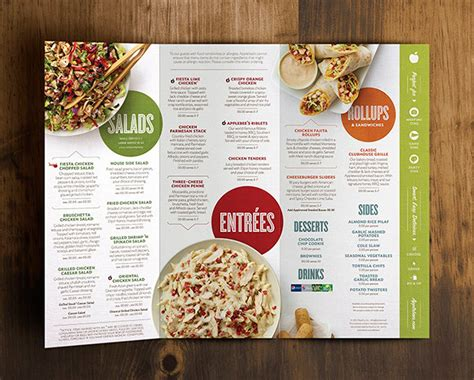 applebee s light menu 35 beautiful restaurant menu designs inspirationfeed