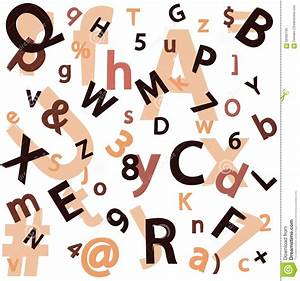 Seamless with a set of letters and numbers stock vector for Pictures of numbers and letters