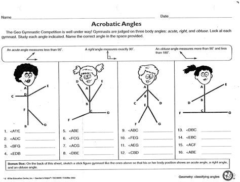 angle relationships worksheets for geometry