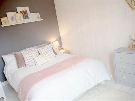 gray white and pink bedroom pink amp grey bedroom makeover bang on style 18822 | GREY PINK BEDROOM 8