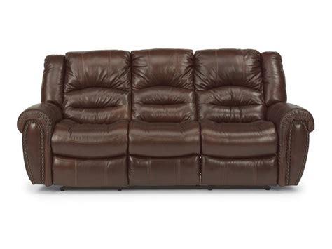 Flexsteel Living Room Leather Power Reclining Sofa 1210
